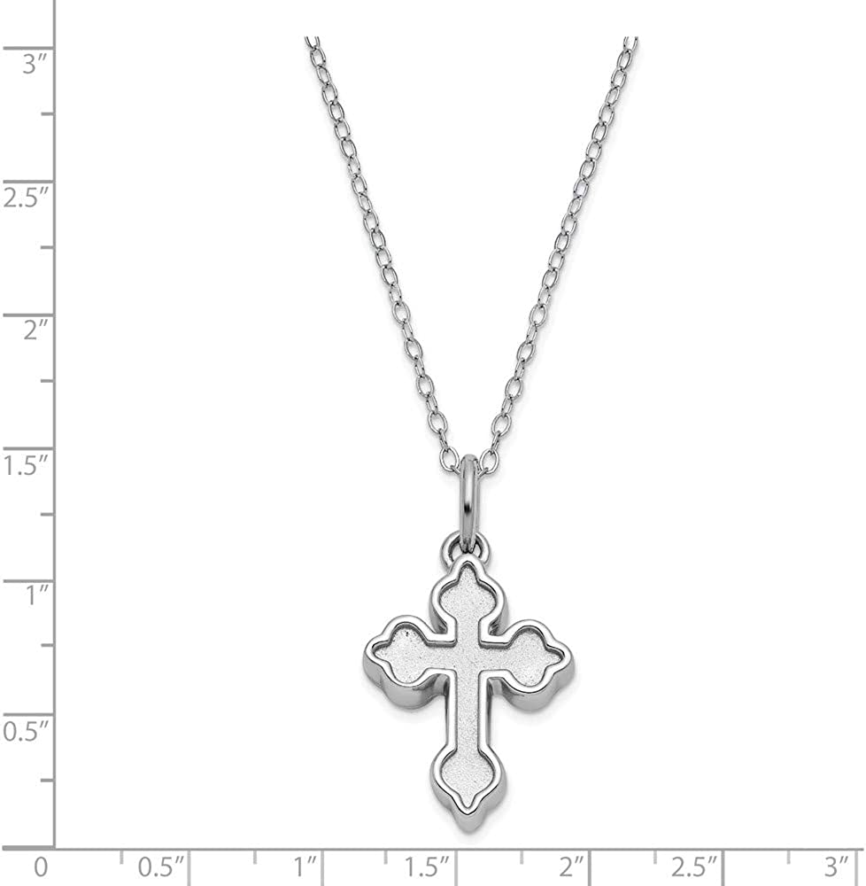 Anthony Medal Jewels By Lux 14k White Gold 22mm Round Hollow St