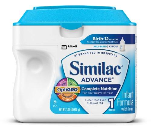 Similac Advance Младенческая Формула с железом, Стадия 1 Порошок, 23,2 унции (Pack 6) (комплектация может отличаться)