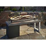 Outdoor GreatRoom Wave Fire Pit Table with 56 in. Wave Burner