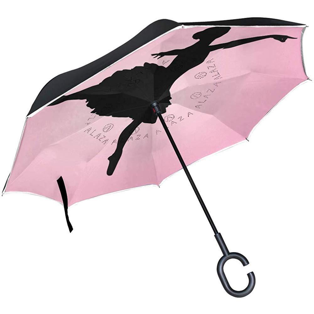 Doble Capa Paraguas invertido invertido Bailarina Bailarina ...