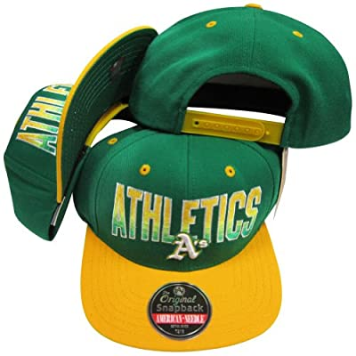 Oakland Athletics Green/Gold Two Tone Plastic Snapback Adjustable Plastic Snap Back Hat/Cap