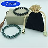Anti Anxiety Bracelet Tourmaline Crystal Bracelet EMF Protection Tourmaline Bracelet For Women And Men Magnetic Bracelets For Anti-Stress Or Anti-Anxiety Healing Bracelet Set