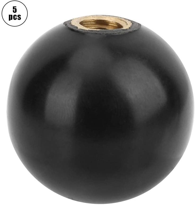 Maxmartt 5pcs BM830 Built in Copper Screw Nut Round Bakelite Ball Knob Handle