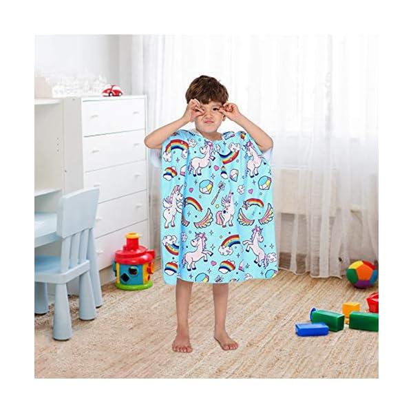 Poncho con Cappuccio Bagno per Bambini Asciugamani con Asciugamano da Bagno Asciugamano da Spiaggia Microfibra… 2 spesavip