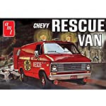 AMT 1:25 Scale Plastic 1975 Chevy Rescue Van Model Kit (Red) by AMT