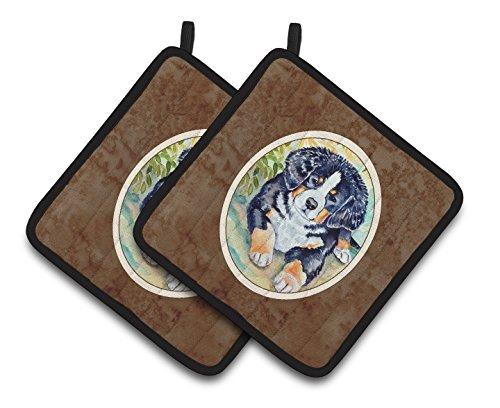 UPC 638508402110, Caroline's Treasures Bernese Mountain Dog Puppy Pair of Pot Holders 7010PTHD, 7.5HX7.5W, Multicolor