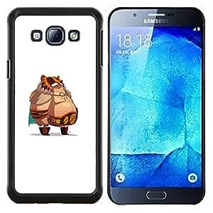 Caucho caso de Shell duro de la cubierta de accesorios de protección BY RAYDREAMMM - Samsung Galaxy A8 A8000 - Jefe de grasa