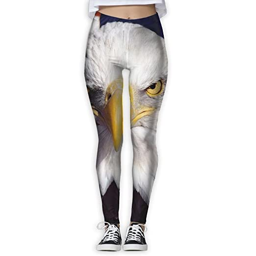 1695babe06fa87 Women's American Flag Bald Eagle Leggings Yoga Long Pants Casual Sweatpants  Athletic Gym Pants