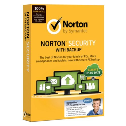 Norton Security with Backup + Bonus Norton Computer Tune Up Bundle (Up to 10 Devices)