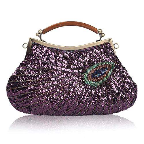 da Purple Kugin Bag donna Borsa Handle One Size qtt0Ap8
