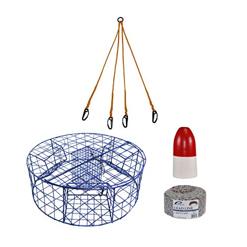 Promar TR-530C2 Heavy Duty Crab Pot with Complete Rigging (Best Crab Bait Dungeness)