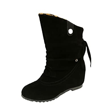 Kukul BOT-B955 Botines para Mujer Botas de tacón Alto 2017 Zapatos de El Flocado