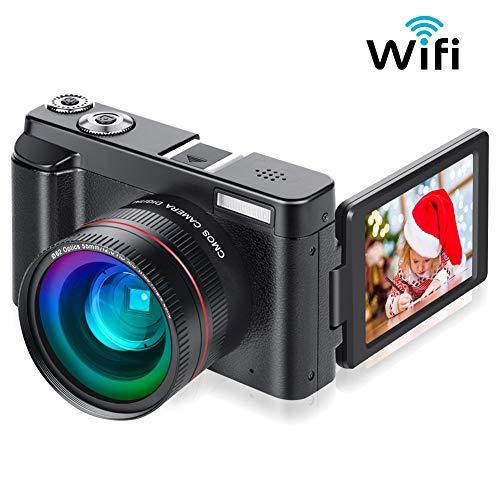 Digital Camera Vlogging Camera for YouTube, Aasonida Video Camera Ultra HD 1080P 30FPS 24MP Camcorder Vlog Camera with Wide Angle Lens, WiFi Function,3.0 IPS Flip Screen,16X Digital Zoom,2 Batteries