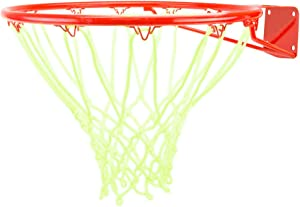 Crown Sporting Goods Glow-in-The-Dark White Nylon Basketball Net