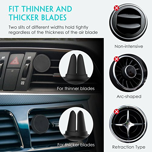 Large Product Image of Magnetic Phone Car Mount, Magnetic Phone Holder, for Car Dashboard with a Super Strong Magnet, for Smartphone, Pack of 2