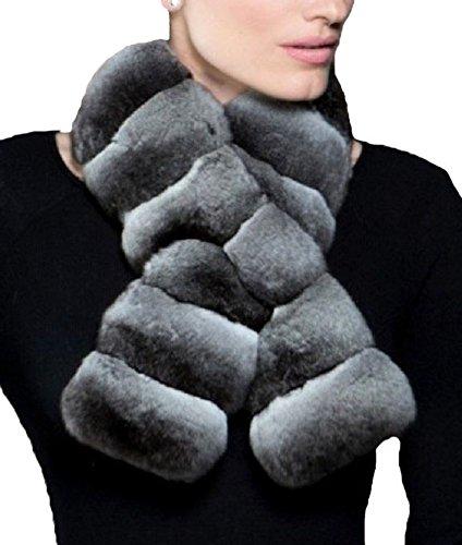 (Women's New Genuine Chinchilla Fur Scarf)