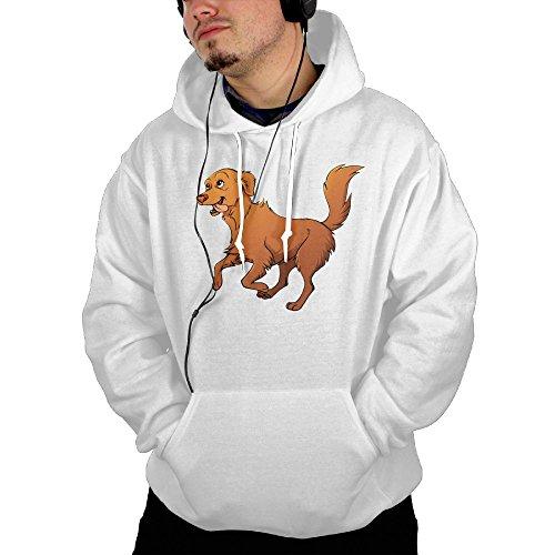 (Man Happy Dog Hoodie Outfitter Hoodie )
