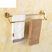Titanium copper Towel Bar/Bathroom hardware accessories/European gold Towel rack/Towel shelf /Double Towel Bar-A