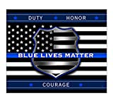 Erazor Bits Outdoor Picnic Blanket | Blue Lives Matter Throw Blanket THF2293-TB