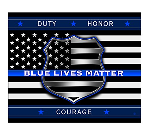 Police Throw - Erazor Bits Police Blanket Cozy Soft American Blanket -BLUE LIVES MATTER- Throw Blanket