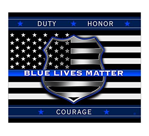 Police Fleece - Soft, Crazy Police Blanket - Blue Lives Matter