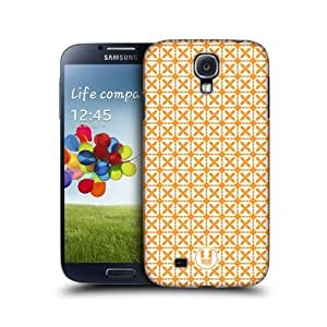 Orange Quatrefoil Pattern Back Case Cover For Samsung Galaxy S4 I9500