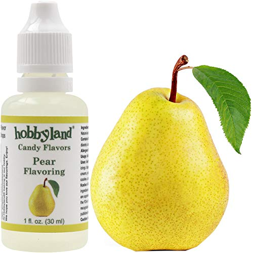 Hobbyland Candy Flavors (Pear Flavoring, 1 Fl Oz), Pear Concentrated Flavor Drops