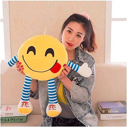 Frantic Polyester Smiley Pillow Cushions, 33x33 cm, Pack Of 1