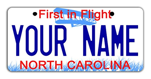BleuReign(TM) Personalized Custom Name North Carolina State Bicycle Bike Moped Golf Cart 3