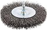 4'' Crimped Wire Wheel Brush, Shank Mounting, 0.012'' Wire Dia, 15/16'' Bristle Trim Length, 1 EA - pack of 5