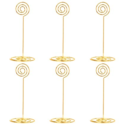 Place Card Holder 8.6 Inch Table Number Card Holders Table Picture Photo Holder Stand Memo Holder Clips Menu Note Name Holders Office & School Supplies