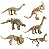 WOLFBUSH Dinosaur Toy for Children 6 Pcs Mini Dinosaur Excavation Toy DIY Educational Archaeology Excavation Toy for Kids - Set Including Stegoceras, Seismosaurus, Triceratops,etc