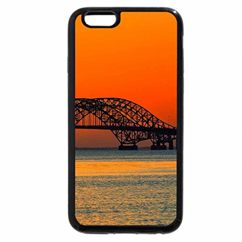 iPhone 6S / iPhone 6 Case (Black) wonderful arched bridge in a colorful bay
