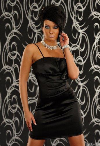 anliegendes Annawear aus Minikleid Stretch Damen Schwarz 8141 Eng Satin warEnw6q