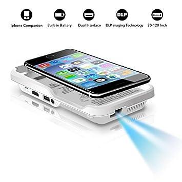 Mini Video Proyector para iphone 6 6S 7 8 x: Amazon.es ...
