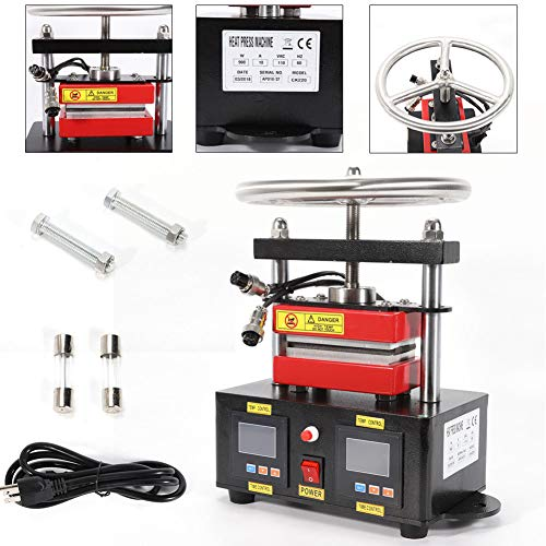 Heated Plates TBVECHI 2000+PSI Professional Hand Crank Rosin Press Duel Heated Plates 2.4