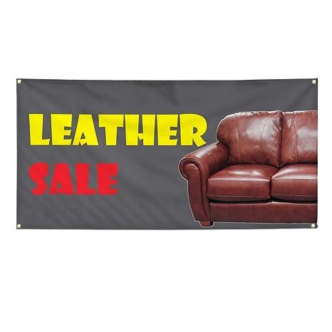 Amazon Com Vinyl Banner Sign Leather Sale Business Style T