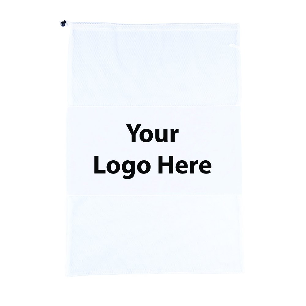 Duo Mesh/Polyester Laundry Bag - 50 Quantity - $5.80 Each - PROMOTIONAL PRODUCT / BULK / BRANDED with YOUR LOGO / CUSTOMIZED by Sunrise Identity