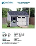 6' x 12' Deluxe Back Yard Storage Shed Project Plans, Lean To / Slant Roof Style Design # D0612L