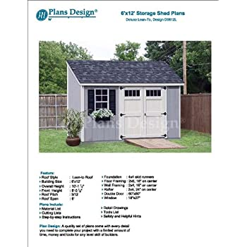 6u0027 X 12u0027 Deluxe Back Yard Storage Shed Project Plans, Lean To /