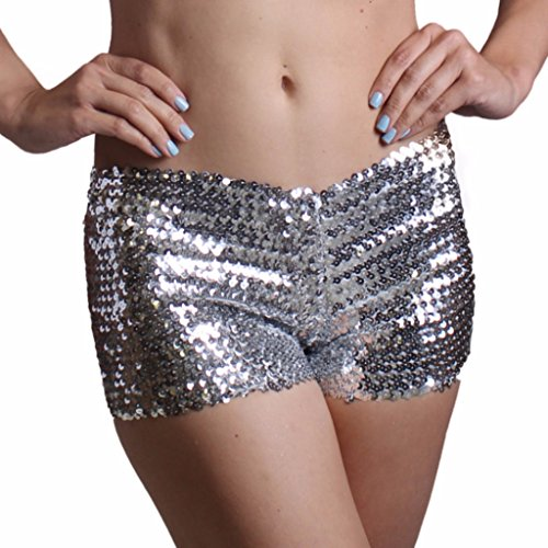 Silver Sequin Dress Costume Ideas (Silver Sequin Booty Shorts)