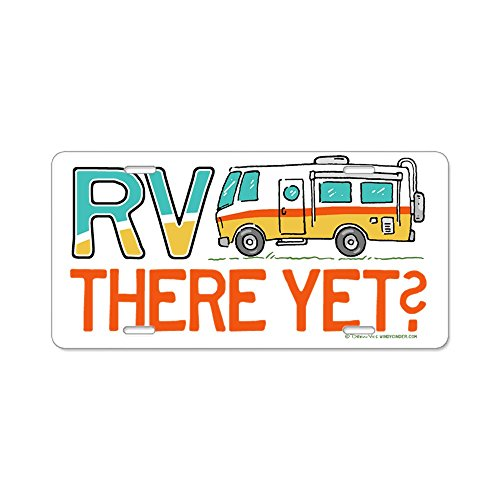 RV There Yet? Vanity Front License Plate made our list of gift ideas rv owners will be crazy about that make perfect rv gift ideas which are unique gifts for camper owners