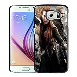 Tauriel-and-Legolas-In-The-Hobbit-2 Black Personalized Recommended Custom Samsung Galaxy S6 G9200 Phone Case