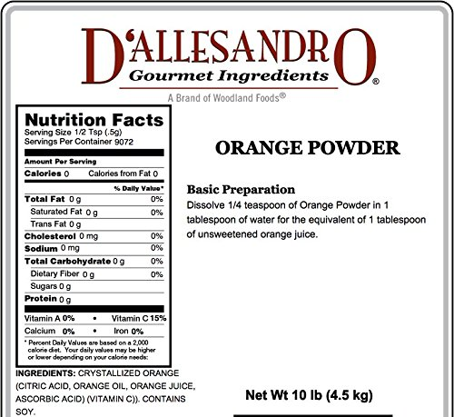 Orange Powder, 10 Lb Bag