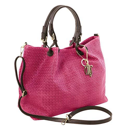 Smart In Magenta Keyluck Shopping Tl Grande Borsa Tuscany Stampa Beige Pelle IntrecciataMisura Leather XP8kNn0Ow