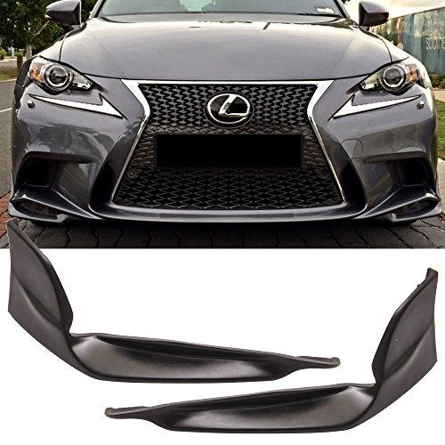 Front Bumper Lip Fits 2014-2016 Lexus IS250 IS350 |Black PU Front Lip Finisher Under Chin Spoiler Add On by IKON MOTORSPORTS | ()