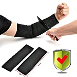 Yosoo Black Kevlar Sleeve Arm Protection Sleeve Anti-Cut Burn Resistant Sleeves,Anti Abrasion Safety (A Pair)