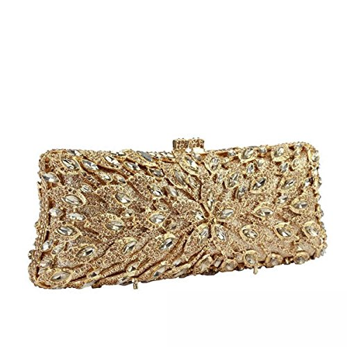 Damas Bolsos De Tarde Diamantes Elegante Banquete Embrague Bolso A