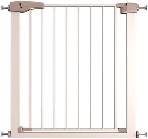 LSRRYD Barrera De Seguridad Extensible Plástico ABS Niños Puertas Seguridad Barreras para Puertas Y Escaleras Doble Bloqueado Puerta Fácil De Instalar (Size : 75x76cm): Amazon.es: Hogar