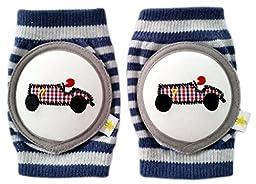 Crawlings Boy\'s Race Car Knee Pads One Size Twilight Blue